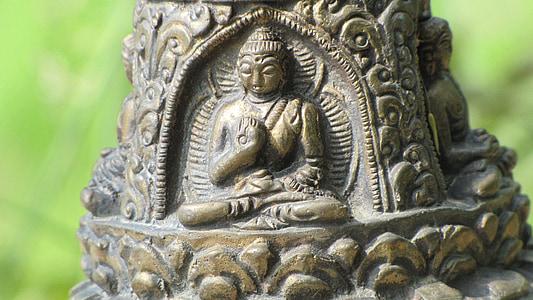 Buddha, odpočinek, meditace, sochy
