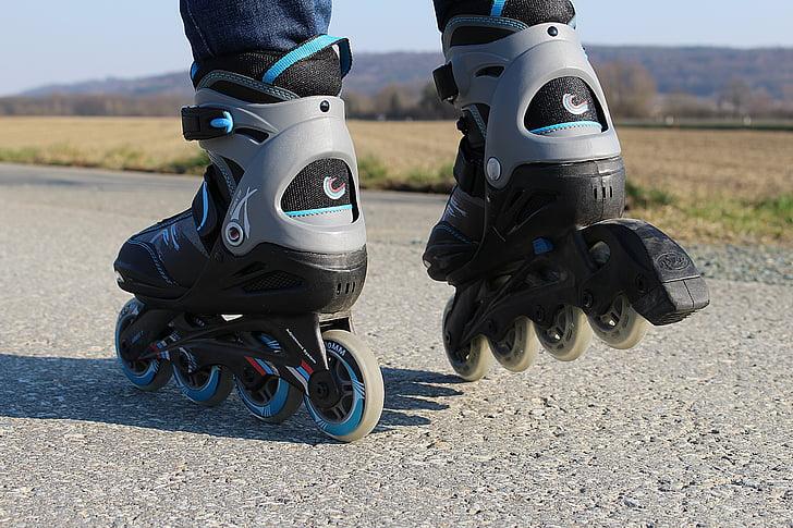 inline skates, rollerskates, recreational sports, sport, leisure