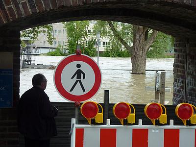 marée haute, Danube, nature, contre les inondations, eau, niveau d'eau, des inondations