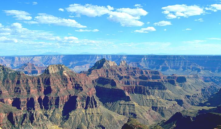 Perspectiva, gran, canó, escèniques, paisatge, natura, núvols