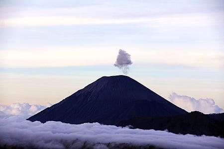 nuvens, paisagem, montanha, natureza, ao ar livre, mar de nuvens, silhueta