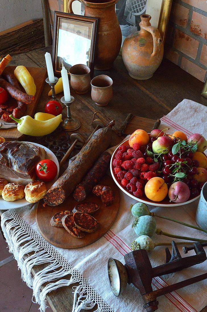 estat d'ànim, vi, fruita, taula, begudes, aliments, copes de vi