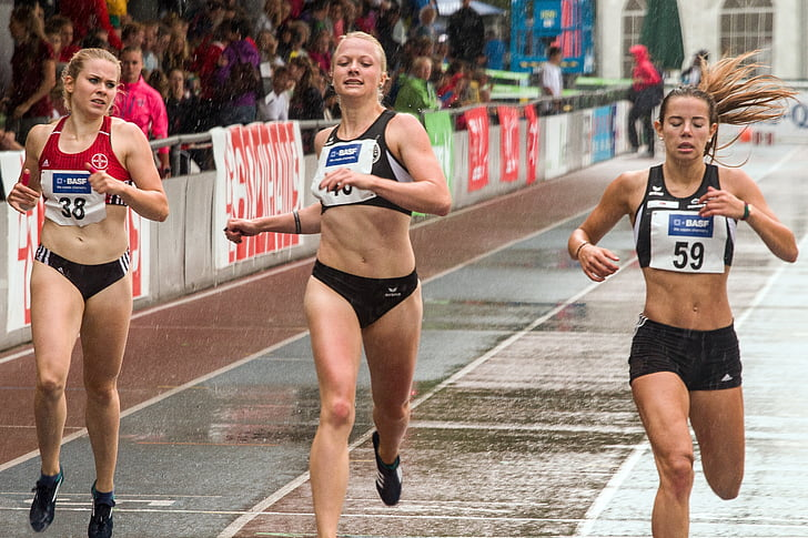Atletisme, 100 m córrer, esport, mannheim gala júnior, cursa