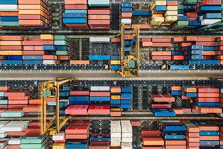 container, van, export, travel, cargo, wharf, transportation
