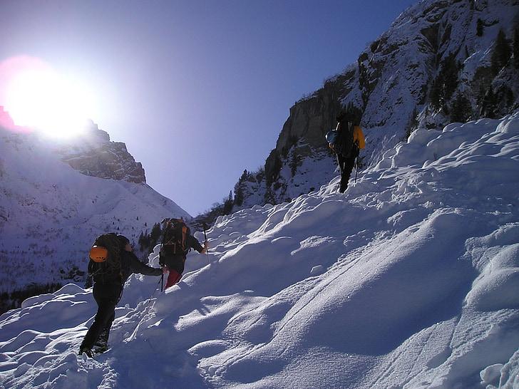 raquetes de neu, Senderisme, neu, raquetes de neu, alpinisme, bergsport, alpí