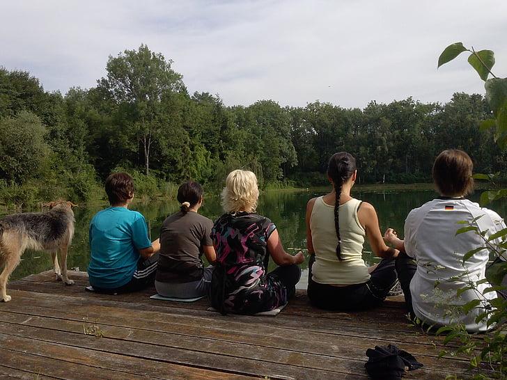 joga, Meditācija, daba, atpūta