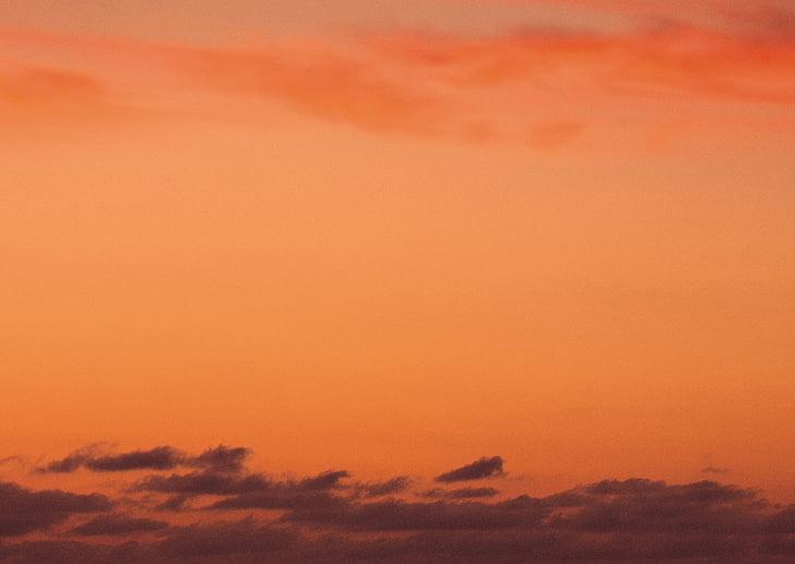 a paisagem, pôr do sol, nuvem, Notícias da noite, céu, céu laranja, natureza