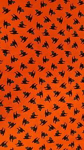 cats, halloween, orange, holiday, design, horror, autumn