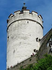 оборонні вежі, Вартова башта, вежа, фортецю Хоензальцбург, Замок, фортеця, Орієнтир