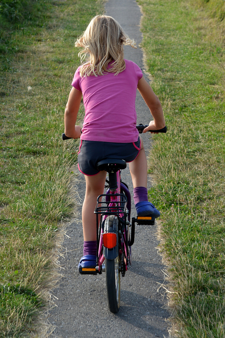 child, bicycle, people, girl, independent, independence, cycling