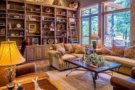 interior, Sala de estar, interior da sala de estar, vivendo, móveis, casa, projeto