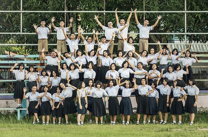 Thailand, Nyt, Park, gutter, studie av, livet, frivillig