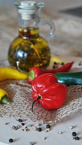 chillis, tšilli pipar, chili, punane, roheline, kollane, pipar