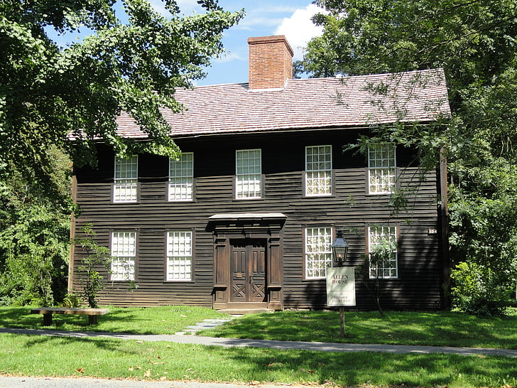 house, home, allen house, deerfield, massachusetts, architecture, landmark