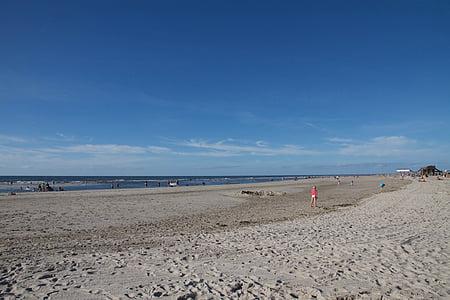 назад свет, пляж, песчаный пляж, плавать, Святого Петра, Ординг, Северная Фризия