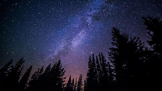 Via Làctia, galàxia, nit, cel, estrelles, univers, cosmos