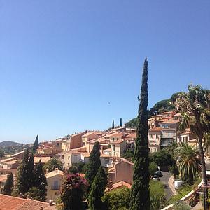 Lõuna, Prantsusmaa, küla, Bormes-les mimosas, Provence