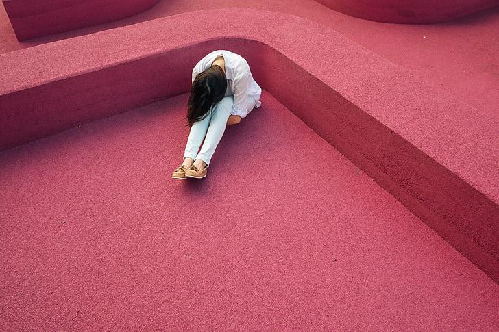 mergaitė, veiklos sutrikimas, liūdnas, depresija, Tom džiazo, moteris, panele