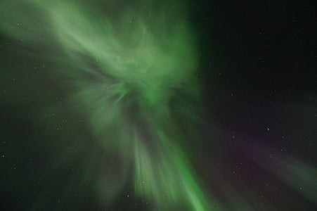 nordlys, Sverige, Lapland, aurora borealis, astronomi, stjerne - rummet, plads