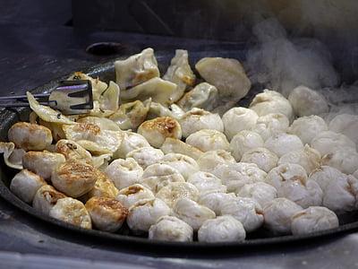 dumplings, dough, filling, oily, hot, chinese, flour