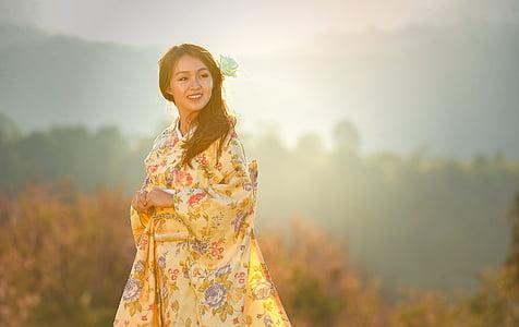 krása, Ázia, zvodná, krásna, Svadobný, oslavu, obrad