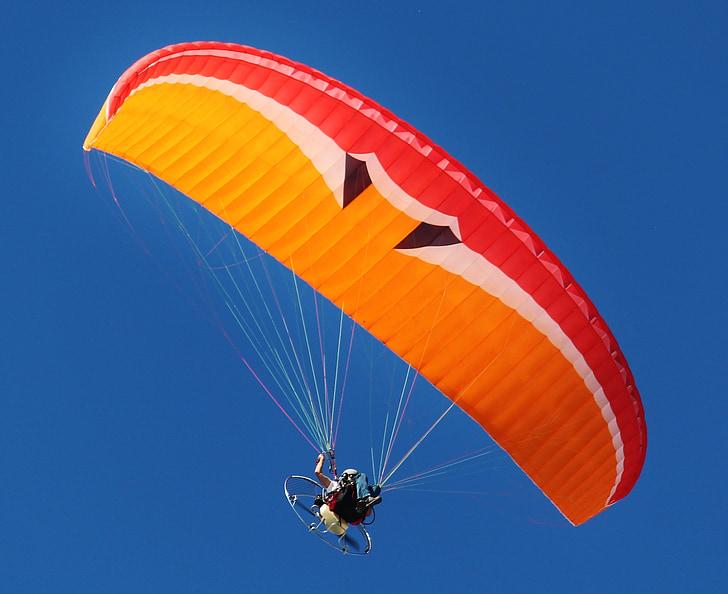 motor gliders, paraglider, fly, screen, aircraft, paragliding, motorsegler
