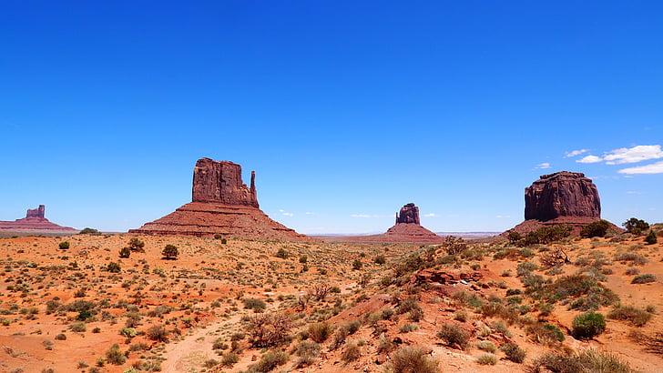 Valley, Monumendid, Arizona, Monument valley, Desert