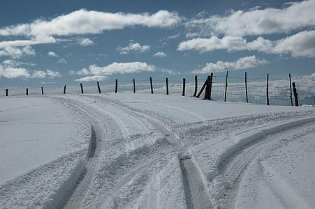 nieve, invierno, montaña, naturaleza, paisaje, Blanco, cubierto de nieve