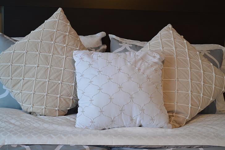 pillows, bedding, bed, bedroom, comfort, comfortable, design
