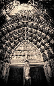 Cologne, Dom, Nhà thờ Cologne cathedral, Nhà thờ, Landmark, kiến trúc Gothic, hoàng hôn