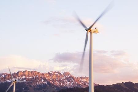 windräder, energia eòlica, energia eòlica, Parc del vent, molinet de vent, generació d'energia, Molí de vent