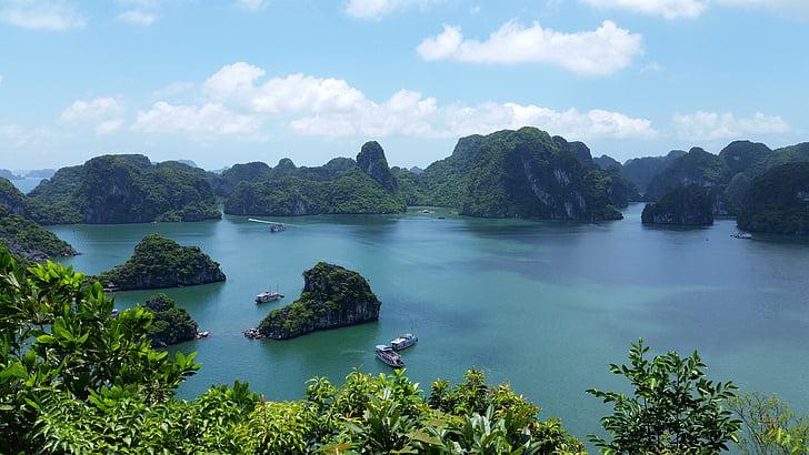 Vietnam, la badia de Halong vietnam, natura, paisatge, Mar, illa, viatges