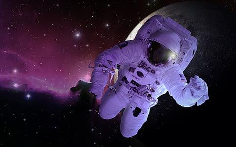 moon, astronaut, astronomy, forward, space travel, technology, float