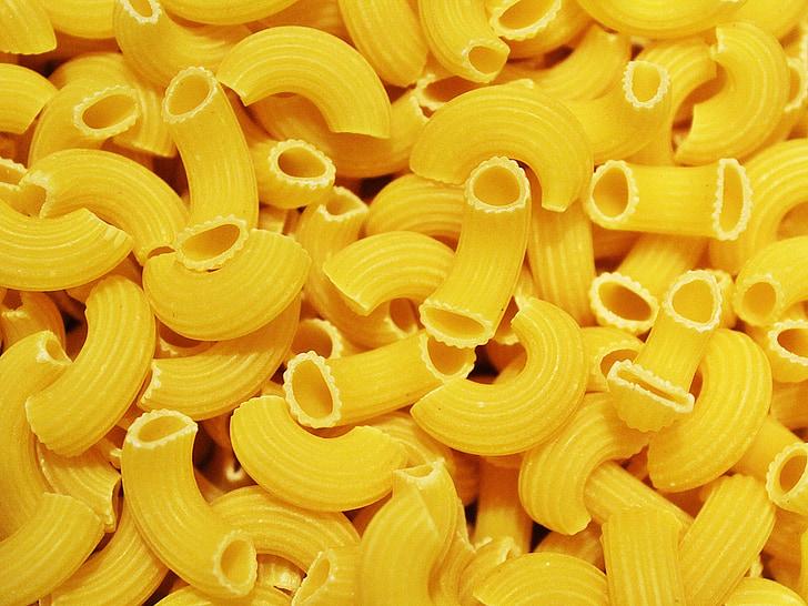 fideus, groc, pastes, aliments, menjar, hidrats de carboni, italià