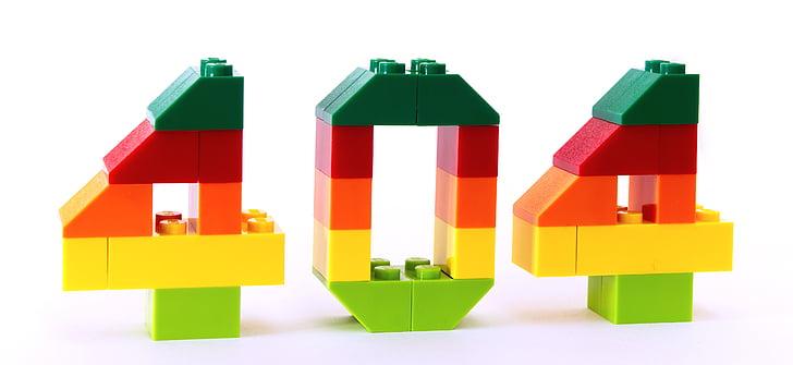 error, not found, 404, lego, mistake, 4, number