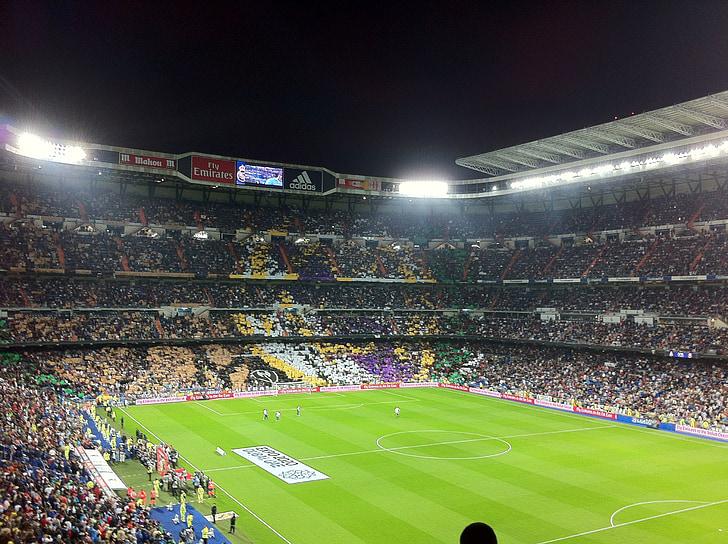 Estadi de futbol, Estadi, futbol, real madrid, Galeria per al públic, Fòrum per al públic, Santiago Bernabéu