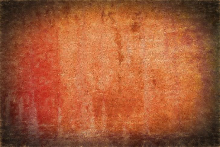 fons, textura, grunge, òxid, fons taronja