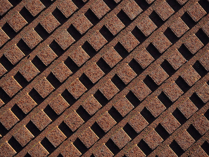 rust, rusty, grid, array, pattern, texture, metal