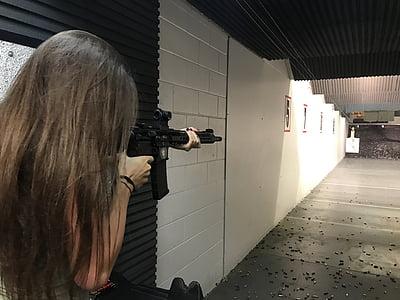 pisztoly, lő, fegyver, cél, veszély, puska, tartomány