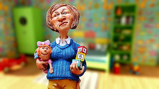 baby-sitter, children educator, children's room, nanny, kindergarten teacher, building blocks, play