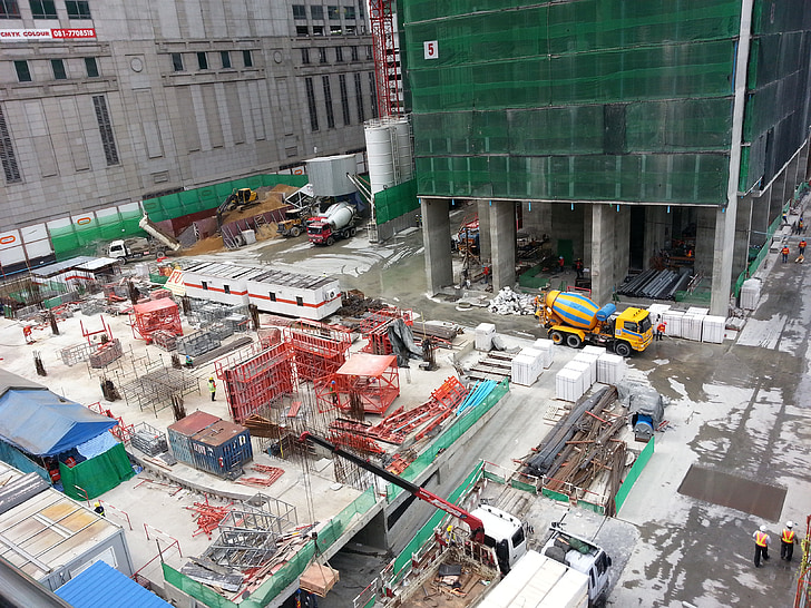 construction, building, site view, bangkok, industry