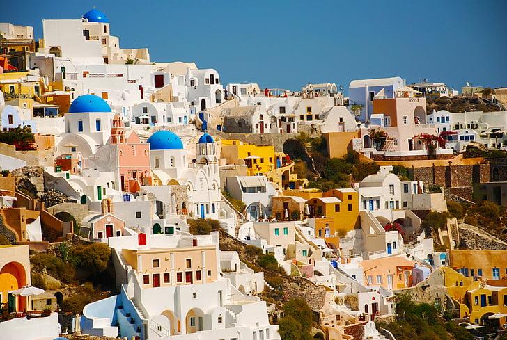 Santorini, Grčija, otok, potovanja, grščina, Evropi, Egejsko