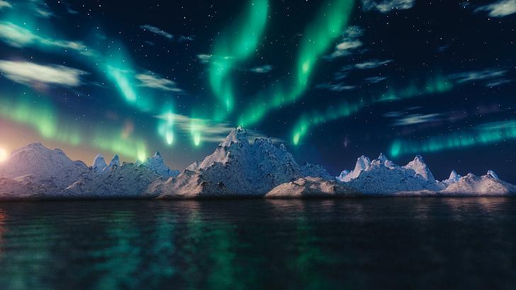northern lights, aurora borealis, blender, nature, phenomenon, lights, solar flares