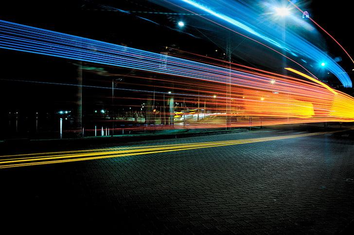 Темний, ніч, Вулиця, дорога, шосе, місто, Ліхтарі