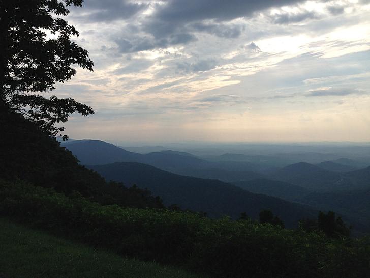 Blue ridge, dağlar, Virginia, manzara, vahşi hayat, sahne, doğal