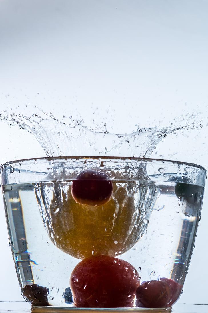 DROPP, vatten, spray, vätska, droppe vatten, hög hastighet