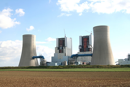 електростанція, побудувати, сайт, буре вугілля, промисловість, фабрика, градирні