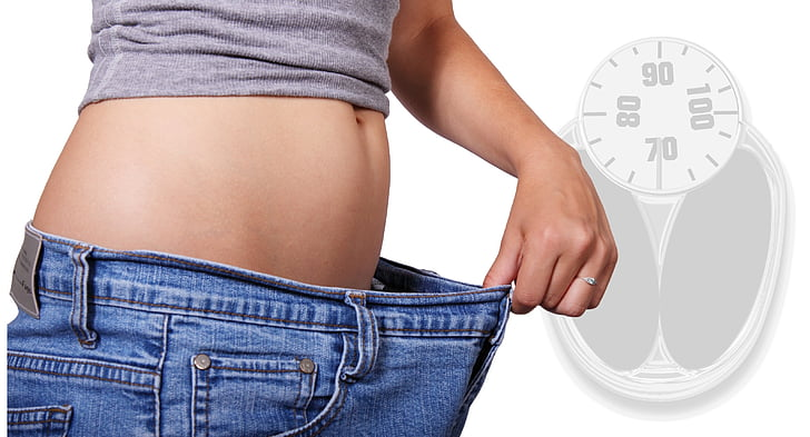 afvallen, verlies van het gewicht, buik, afvallen, Slim, maag, schaal