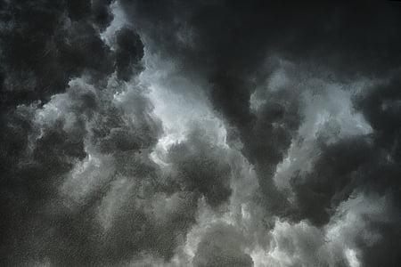 audros debesys, debesys, dangus, Debesuota su pragiedruliais, tamsūs debesys, Orai, į priekį