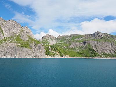luenersee, schafgafall, brandnertal, Vorarlberg, Àustria, muntanyes, alpí